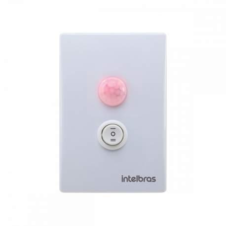 Sensor de Presença de Embutir C/interuptor Intelbras-sensores 4823003 Esp 180 E+