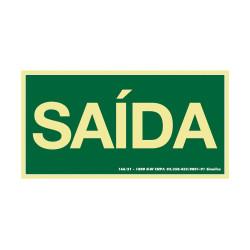 Placa De Sinalização - Saída - Verde Sinalize NBR 13.434