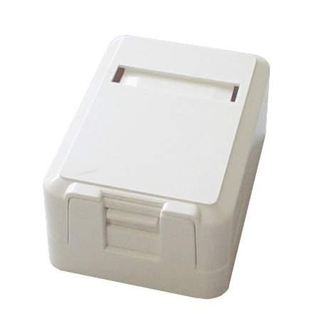 Caixa de Superficie Sobrepor 1 Rj45 Branco 01024/ Link + Mucx0010
