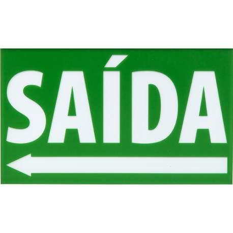 Placa Sinalização Ps Br-vd Saida Engesul Seta Esquerda