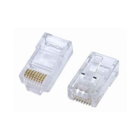 Conector Rj45 Cat5e Macho Com 100 Pcs 8x8 Ad-10003 Adconnect